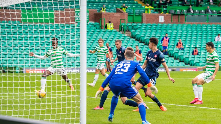 Jeremie Frimpong makes it 2-0 with another simple finish on Sunday