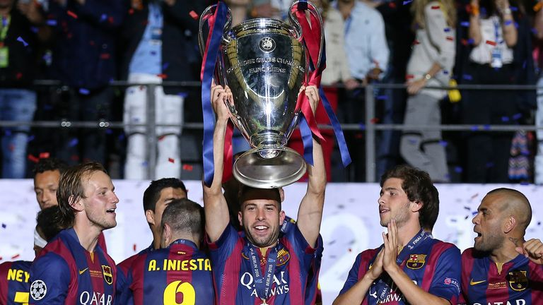 Jordi Alba went on to lift the Champions League with Barcelona under Pep Guardiola