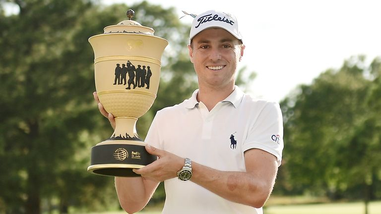 Justin Thomas' reaction and his final round highlights following his victory in the WGC-FedEx St Jude Invitational