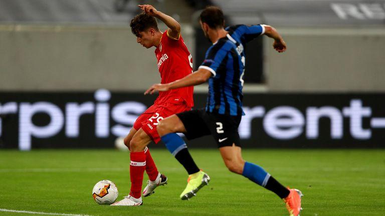 Kai Havertz gave Bayer Leverkusen hope with his strike after 24 minutes