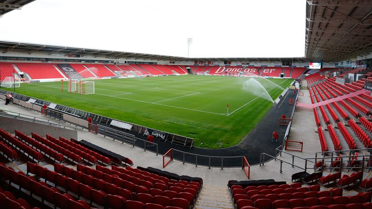 General view of Doncaster Rovers' Keepmoat Stadium
