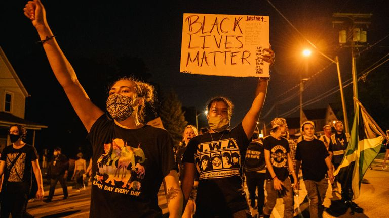 Protests in Kenosha, Wisconsin go into a fourth night following the shooting of Jacob Blake