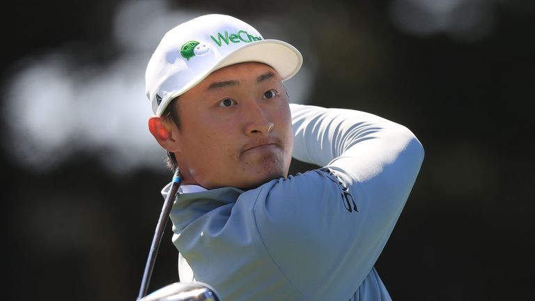 Li Haotong holds a two-shot lead at halfway