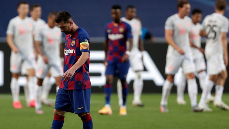 Barcelona suffered one of the biggest defeats in their history against Bayern