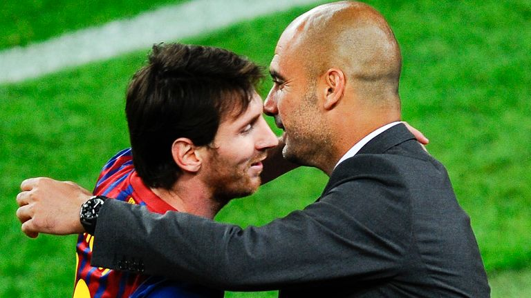 Lionel Messi would be reunited with Pep Guardiola at Manchester City