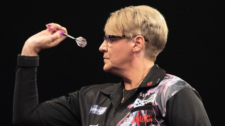 Lisa Ashton is the first women to have won a PDC Tour Card. Pic: Lawrence Lustig