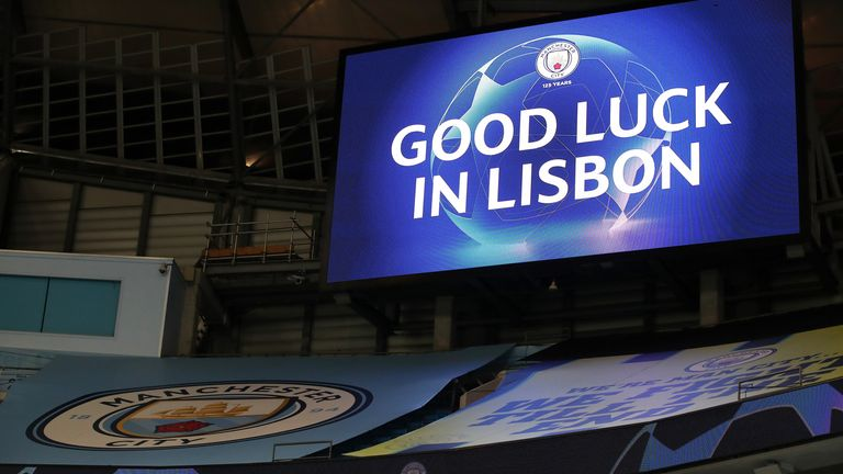 City now go to Lisbon to face Lyon on August 15