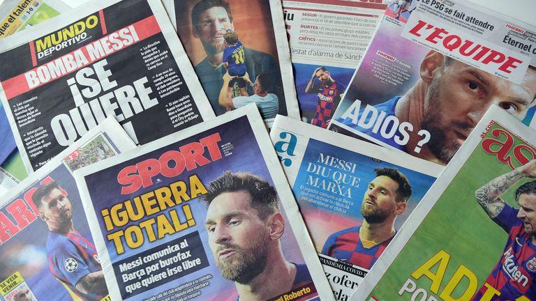 Wednesday's papers in Spain regarding Lionel Messi