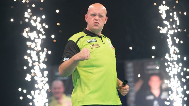 Michael van Gerwen claimed a dominant victory over Rob Cross as the Premier League returned in Milton Keynes