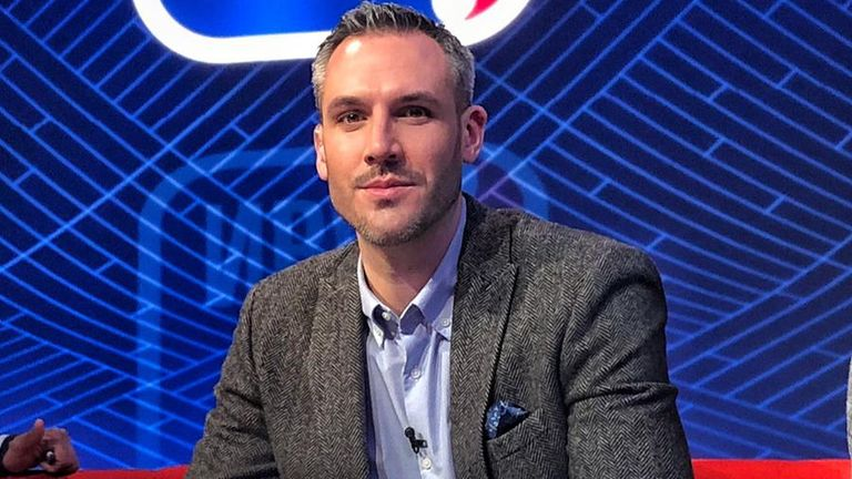 Sky Sports NBA analyst Mike Tuck pictured in studio