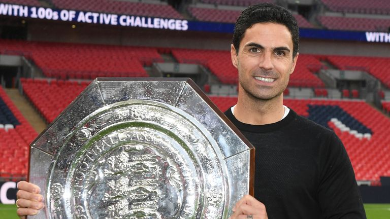 Arteta added the Community Shield to the FA Cup success in August