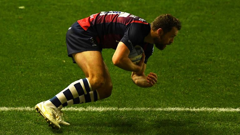 Luke Morahan scored Bristol's second try to see them into the lead