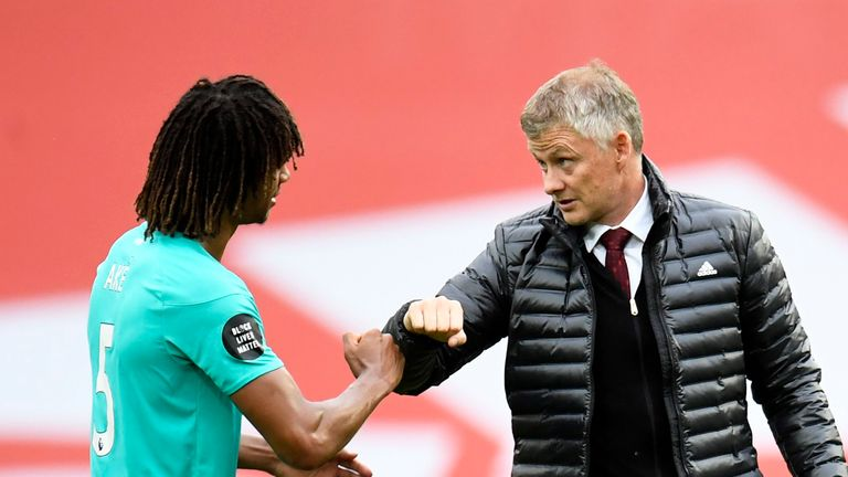 Nathan Ake shared a few words with Manchester United manager Ole Gunnar Solskjaer after Bournemouth's defeat at Old Trafford last month