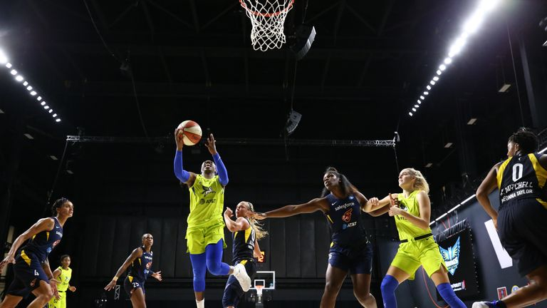 Highlights of the WNBA regular season game between the Dallas Wings and the Indiana Fever from Florida.