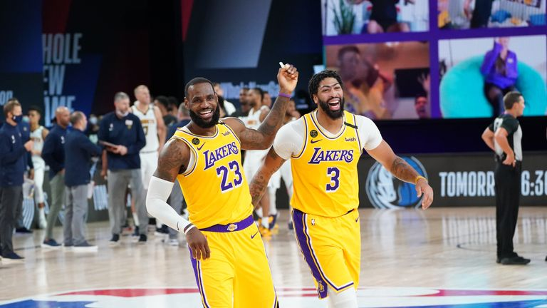 Highlights of the seeding match between the Denver Nuggets and the Los Angeles Lakers from Orlando.