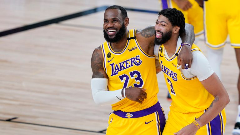 Los Angeles Lakers star Anthony Davis slammed home an incredible buzzer-beating dunk shot at the end of the second quarter against Denver.