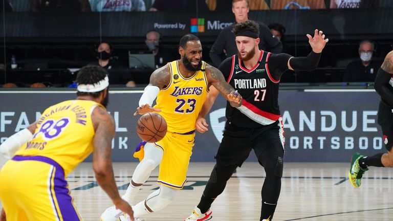 Highlights of Game 5 of the Western Conference first round playoff series between the Portland Trail Blazers and the Los Angeles Lakers.