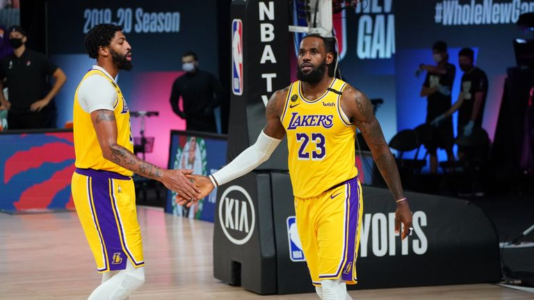 LeBron James' triple-double led the Los Angeles Lakers to a 4-1 win over the Portland Trail Blazers in their Western Conference first round playoff series.