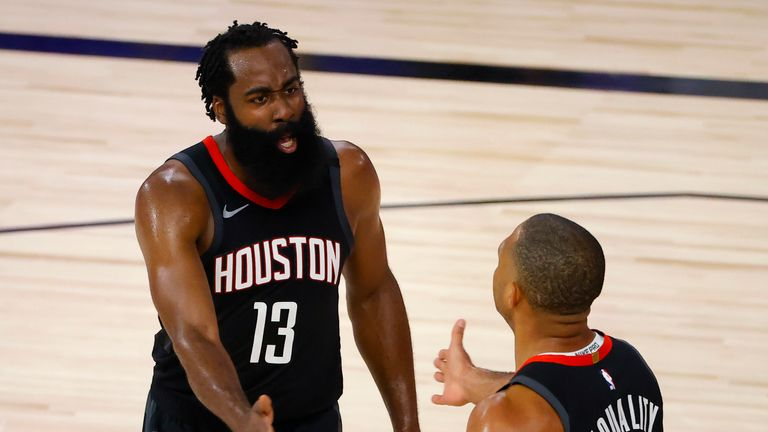 James Harden starred with 31 points as the Houston Rockets took a 3-2 lead over the Oklahoma City Thunder in their first round playoff series.