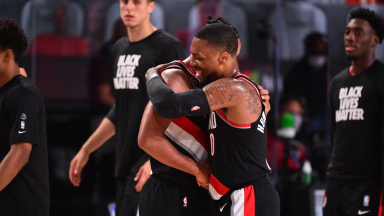 The Portland Trail Blazers kept their NBA playoff hopes alive with a 110-102 victory over the Houston Rockets.