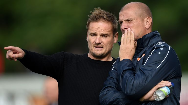 Neil Cox (L) leaves his role as Neal Ardley's assistant at Notts County