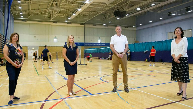 Left to right: Sue Storey (Volleyball England), Katy Ritchie (England Netball) Adrian Christy (Badminton England) and Sara Sutcliffe (Table Tennis England)