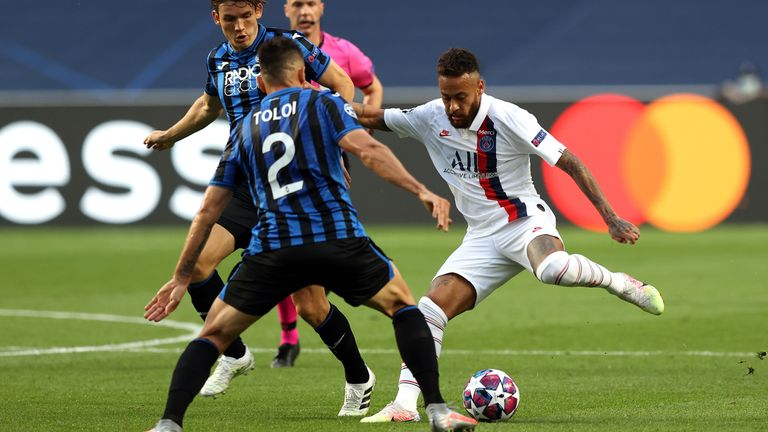 Neymar looks to create a moment of inspiration for PSG against Atalanta