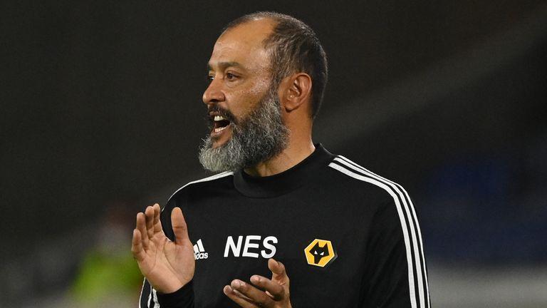 Wolves boss Nuno Espirito Santo during their loss to Sevilla