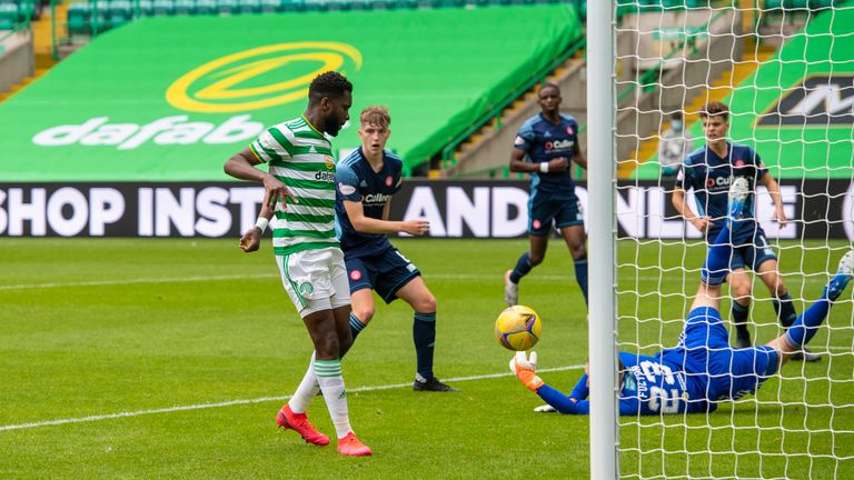 Odsonne Edouard taps home the opener after 20 minutes for Celtic