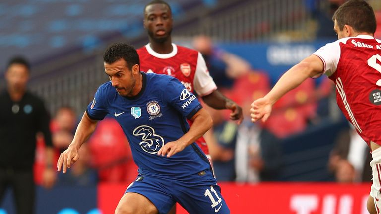 Pedro's final Chelsea appearance came in their FA Cup final defeat to Arsenal