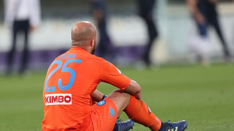 Reina last played in the Champions League when he was at Napoli