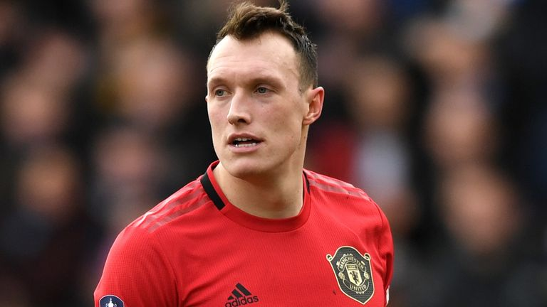 Phil Jones during Manchester United's win at Tranmere this season