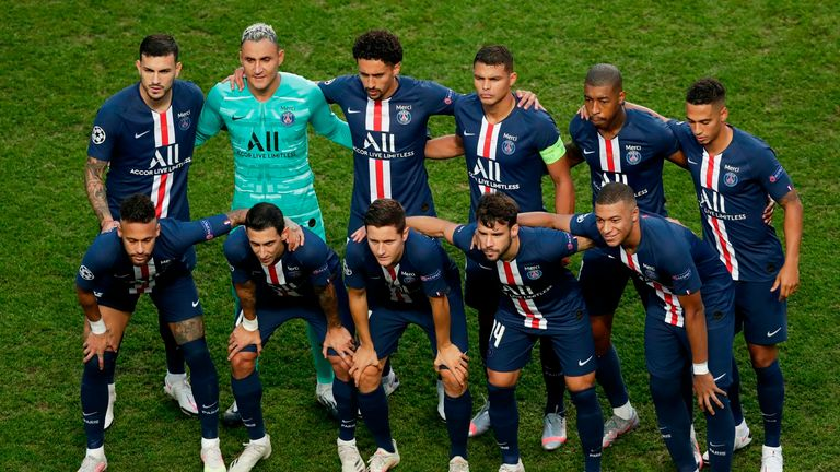 PSG Champions League final XI