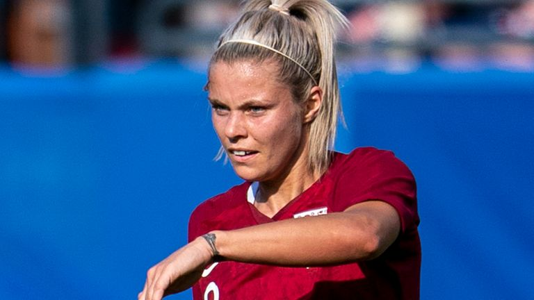 England Women's Rachel Daly in action against Spain Women at the 2020 SheBelieves Cup