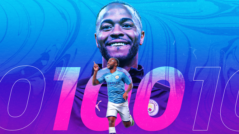 Raheem Sterling scored his 100th goal for Manchester City on Friday