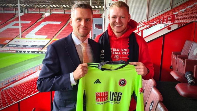 Aaron Ramsdale joins Sheffield United