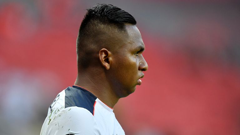 Alfredo Morelos has started Rangers' first two matches of the season