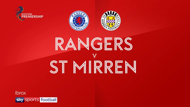 Highlights of the Scottish Premiership match between Rangers and St Mirren.