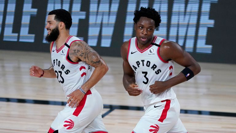 Fred vanleet and OG Anunoby