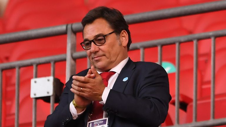 Raul Sanllehi joined as head of football operations in 2017