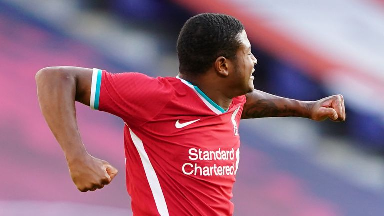 Rhian Brewster scored both goals in Liverpool's comeback draw against RB Salzburg