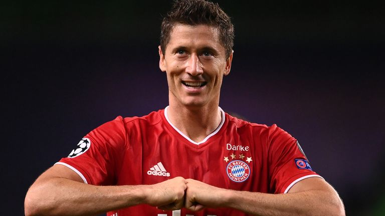 Robert Lewandowski has scored 55 goals in all competitions this season – more than any other player in Europe