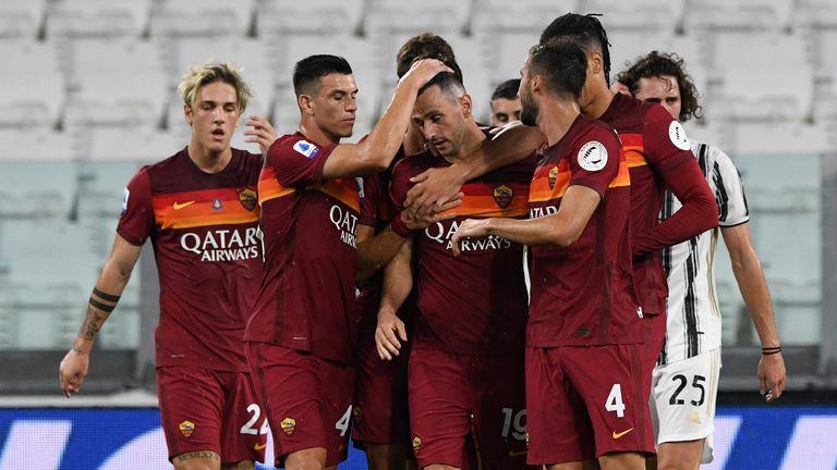 Juventus' defeat to Roma meant they were only a single point ahead of Inter