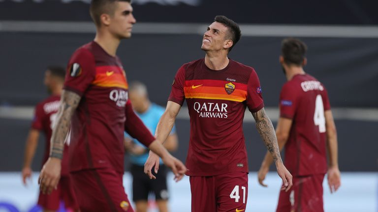 Roma's hopes of progressing in the Europa League were ended by Sevilla