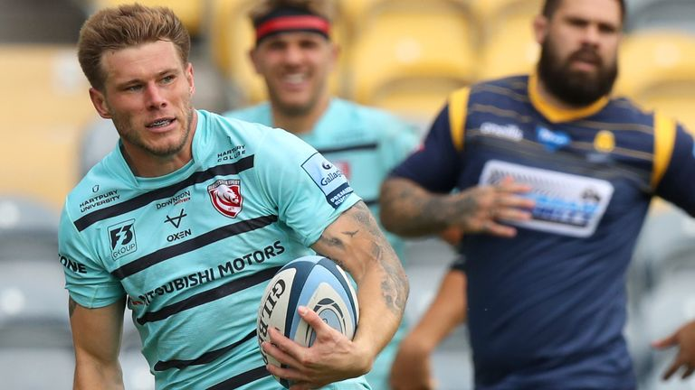 Jason Woodward was among Gloucester's tryscorers against Worcester