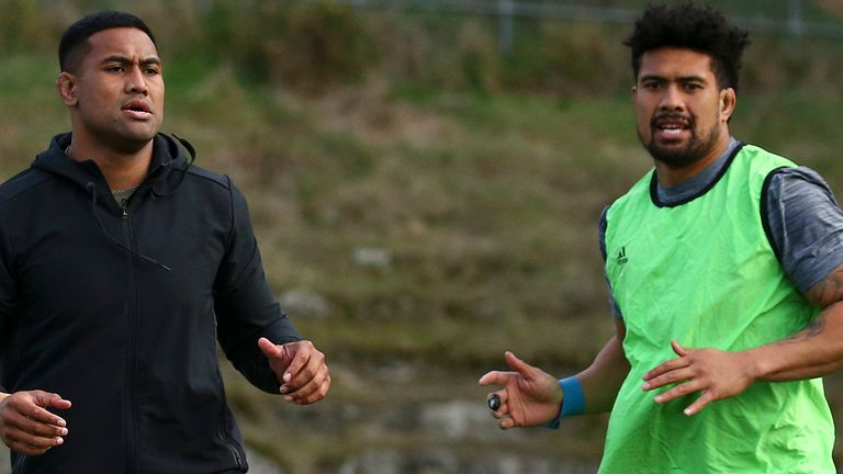 Savea is back training alongside his brother Ardie (right)