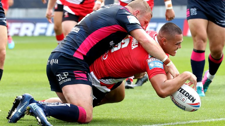 Tui Lolohea has been in fine form since joining Salford
