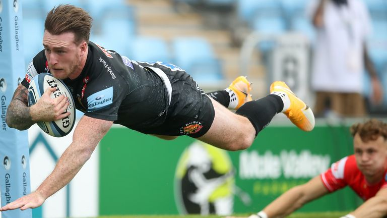 Stuart Hogg scored the second of Exeter's four tries