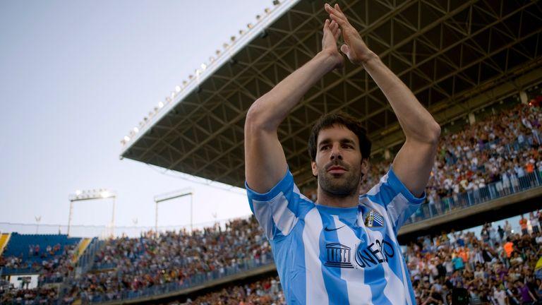 Former Man Utd and Real Madrid striker Ruud Van Nistelrooy joined Malaga in 2011