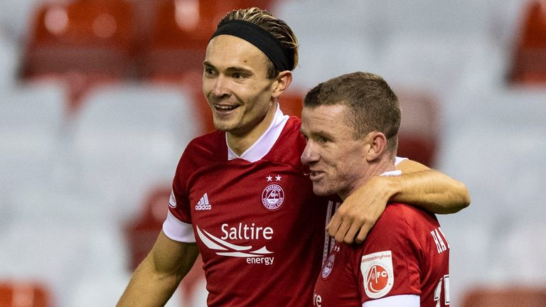 Ryan Hedges was on target for Aberdeen against NSI Runavik at Pittodrie